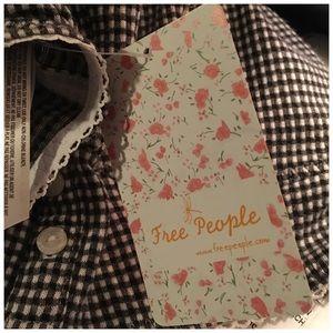 Free People Intimates & Sleepwear - Free People Delilah Bra Black White Checked Medium